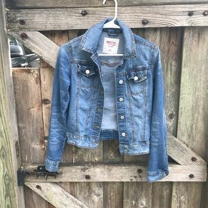 Mossimo supply co Distressed jean jacket size XS